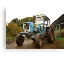 British Blue Tractor Canvas Print