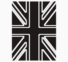 Black & White Union Flag Kids Clothes