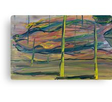 Abstract Desert Landscape with reptile snout oil painting Canvas Print