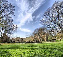 Kirkstall Abbey #3 by Sandra Cockayne