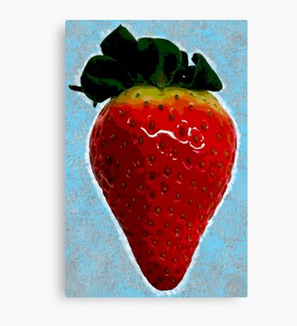 Delicious strawberry Canvas Print