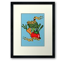 Healthy is Cool Framed Print