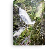 Beautiful Pystyll Cain Waterfall Canvas Print