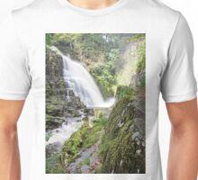 Beautiful Pystyll Cain Waterfall Unisex T-Shirt