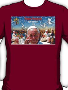 Pope Francis 2015 New York Visit-skyline background 3 T-Shirt