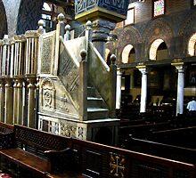 Inside Hanging Church - Coptic Cairo by Marilyn Harris
