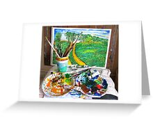 Edge of Chaos Greeting Card