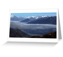 Queenstown from Crown Range Road Greeting Card