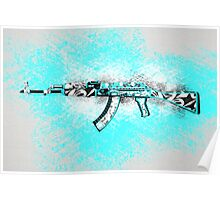 NEW! CSGO AK-47 Frontside Misty (SHADOW CASES) Poster