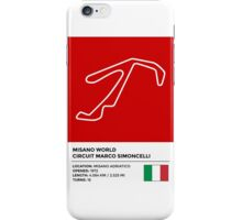 Misano World Circuit Marco Simoncelli - v2 iPhone Case/Skin