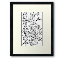 Delicate Doodle Framed Print