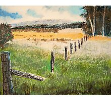 fence and fields Photographic Print