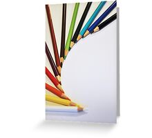Colorful Pencils Greeting Card