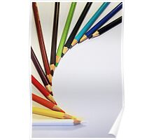 Colorful Pencils Poster