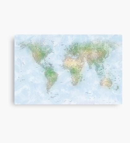 World City Map Canvas Print