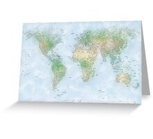 World City Map Greeting Card