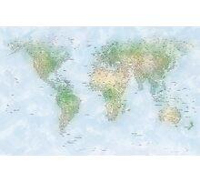 World City Map Photographic Print