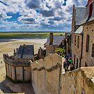 France. Normandy. Mont Saint-Michel. Behind the Walls. by vadim19