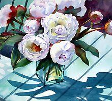 Sunlit Peonies by Ann Mortimer