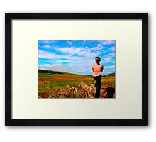 Girl and Sky Framed Print