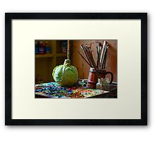 Where Art Begins Framed Print