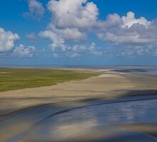 France. Normandy. View from the top of Mont Saint-Michel.  by vadim19