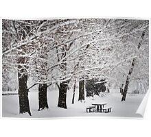 Wheeler Farm in Winter Poster