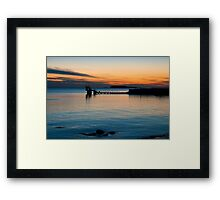 sunset.. blackrock, salthill Framed Print