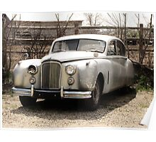 In The Beginning..1953 Jaguar mark7 Saloon Poster