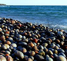 Lake Superior Rocks 2 - Marathon Ontario Canada by loralea