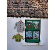 green window.. Photographic Print