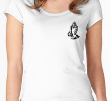 6 GOD - WHITE SMALL Women's Fitted Scoop T-Shirt