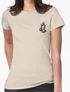 6 GOD - WHITE SMALL Womens Fitted T-Shirt