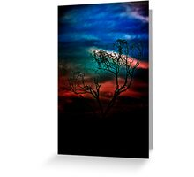 Clutching the Mystery Sky Greeting Card