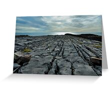 limestone pavement.. inishmore Greeting Card