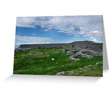 the black fort, inishmore Greeting Card