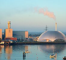 Power Station and Incinerator from Southampton Water by Steve