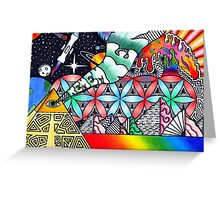 Pyramids of Dimethyltryptamine (DMT) Greeting Card
