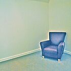 Blue chair  by richard  webb