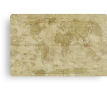 World Map Antique Style Canvas Print