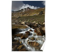 Torrent in Cherkanak valley, Talas Range, Tien-Shan, Kyrgyzstan Poster