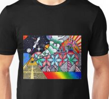 Pyramids of Dimethyltryptamine (DMT) Unisex T-Shirt