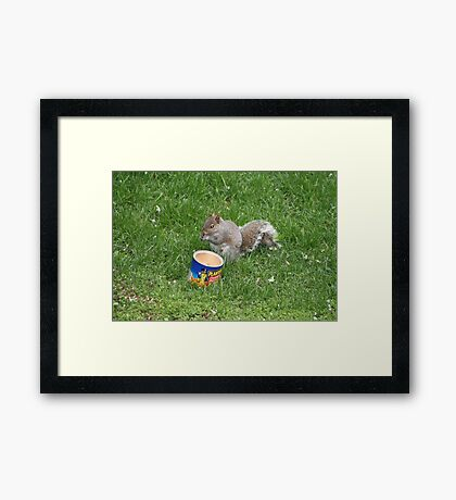 Now, this is eating! Framed Print