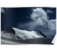 Snow covered edge of Adygine glacier, Kyrgyz Range, Tien-Shan, Kyrgygzstan Poster