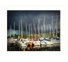 thunder at marina II Art Print