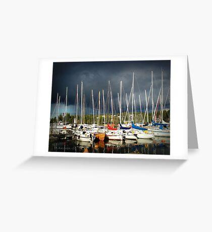 thunder at marina II Greeting Card