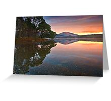 Morning glow over Derwentwater Greeting Card