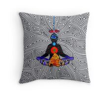 Psychedelic meditiation  Throw Pillow