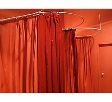 Red Curtains Photographic Print