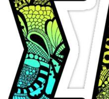 Epsilon Sigma Alpha Letters Doodle Sticker